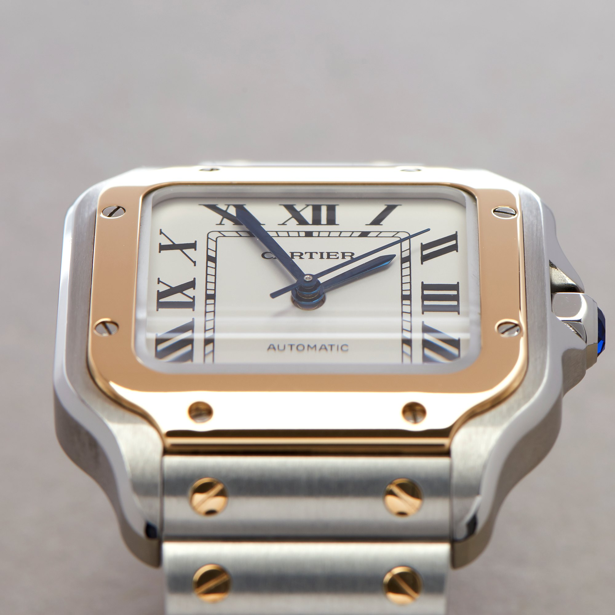 Cartier Santos 18K Yellow Gold & Stainless Steel W2SA0016