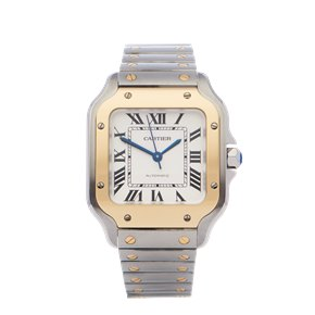 Cartier Santos 18K Yellow Gold & Stainless Steel - W2SA0016