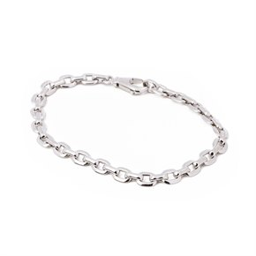 Cartier White Gold Oval link Bracelet