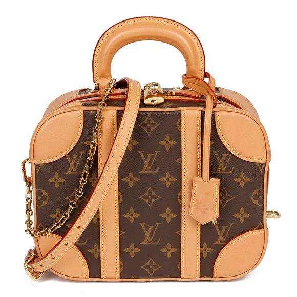 Louis Vuitton Brown Monogram Coated Canvas & Vachetta Leather Valisette PM