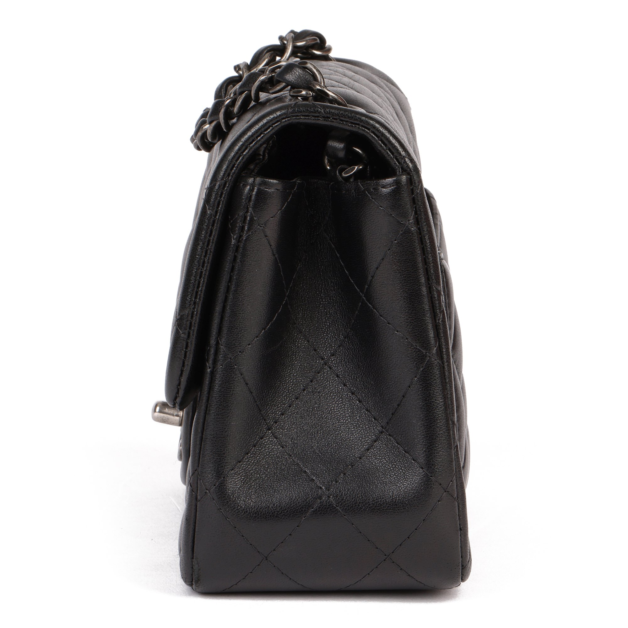 Chanel Black Quilted Lambskin Leather Mini Flap Bag