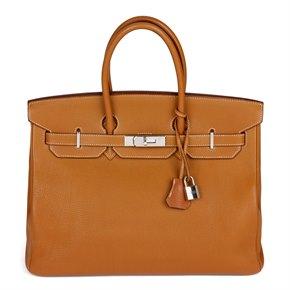 Hermès Caramel Togo Leather Birkin 35cm Retourne