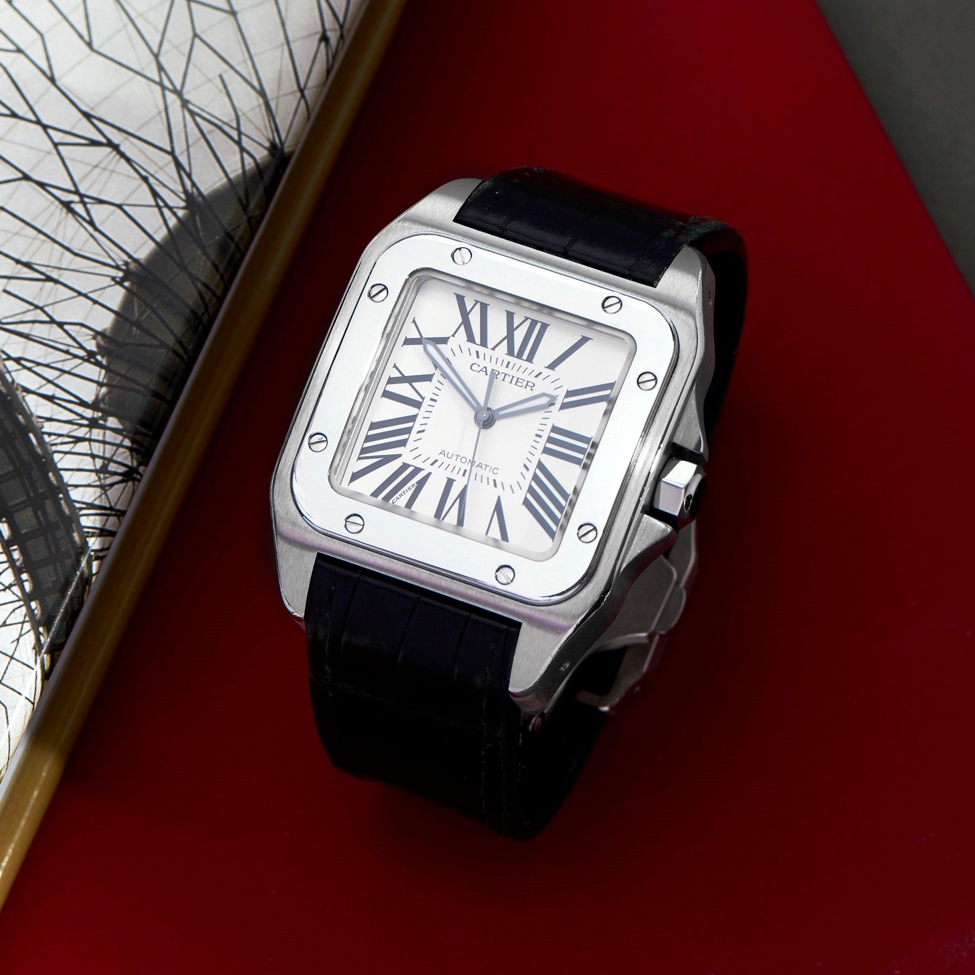 Cartier Santos 100 Roestvrij Staal 2656