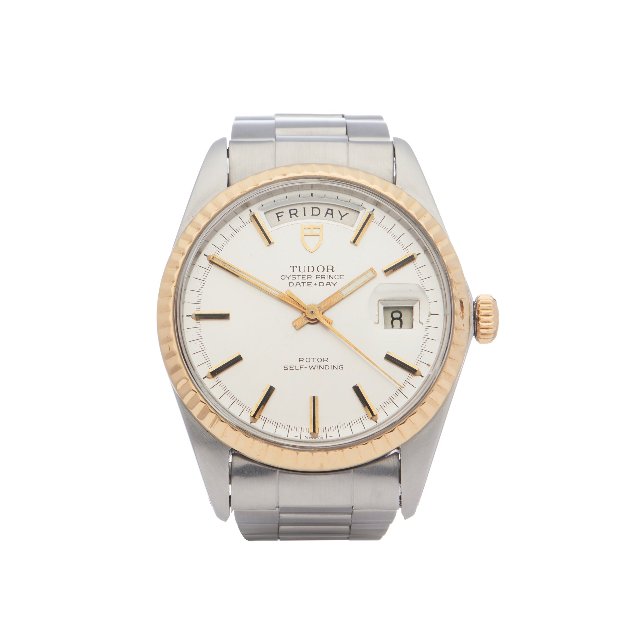 Tudor Date Day 18K Yellow Gold & Stainless Steel 7017/0