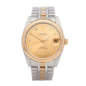 Tudor Prince Date 18K Yellow Gold & Stainless Steel - 74000
