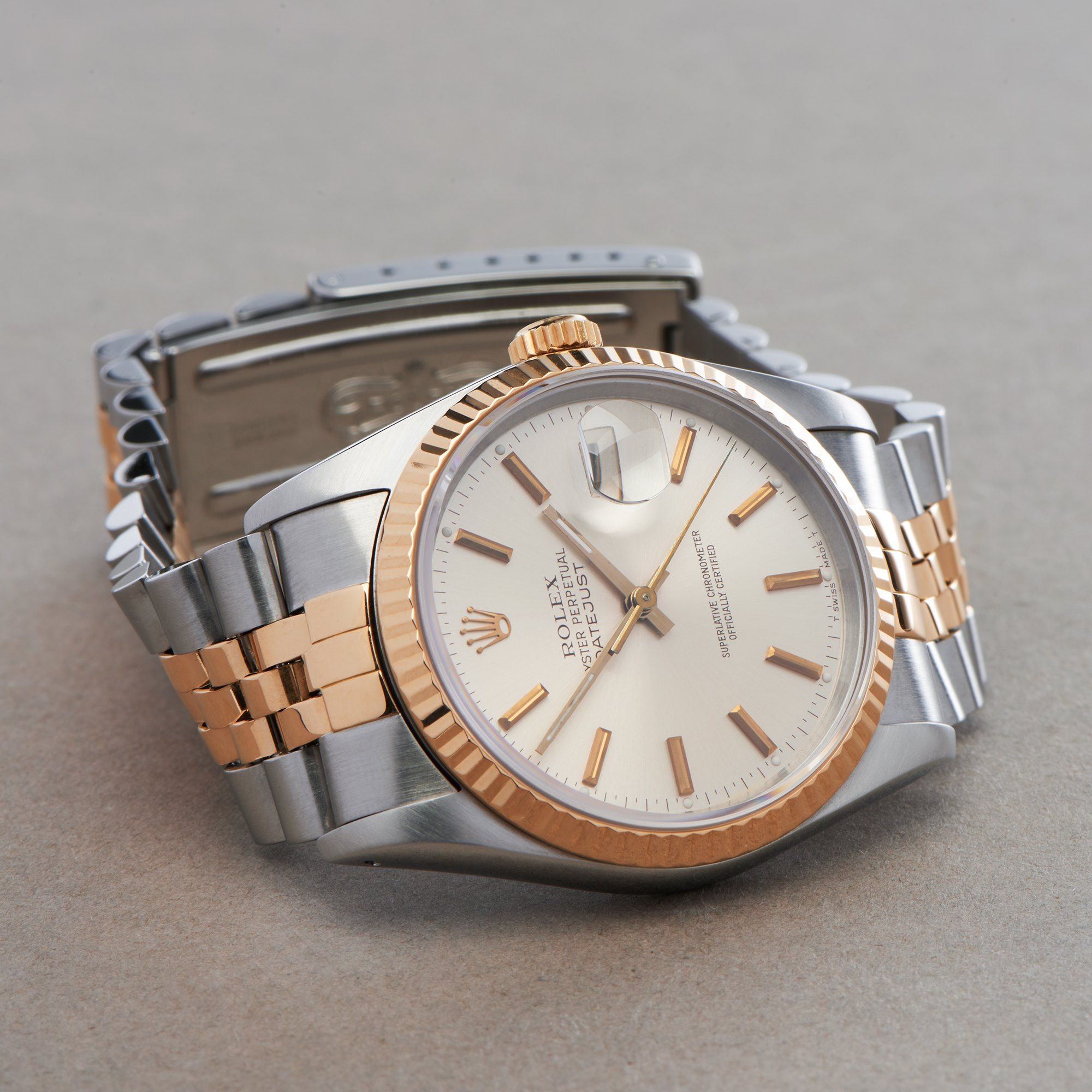Rolex Datejust 18K Yellow Gold & Stainless Steel 16233