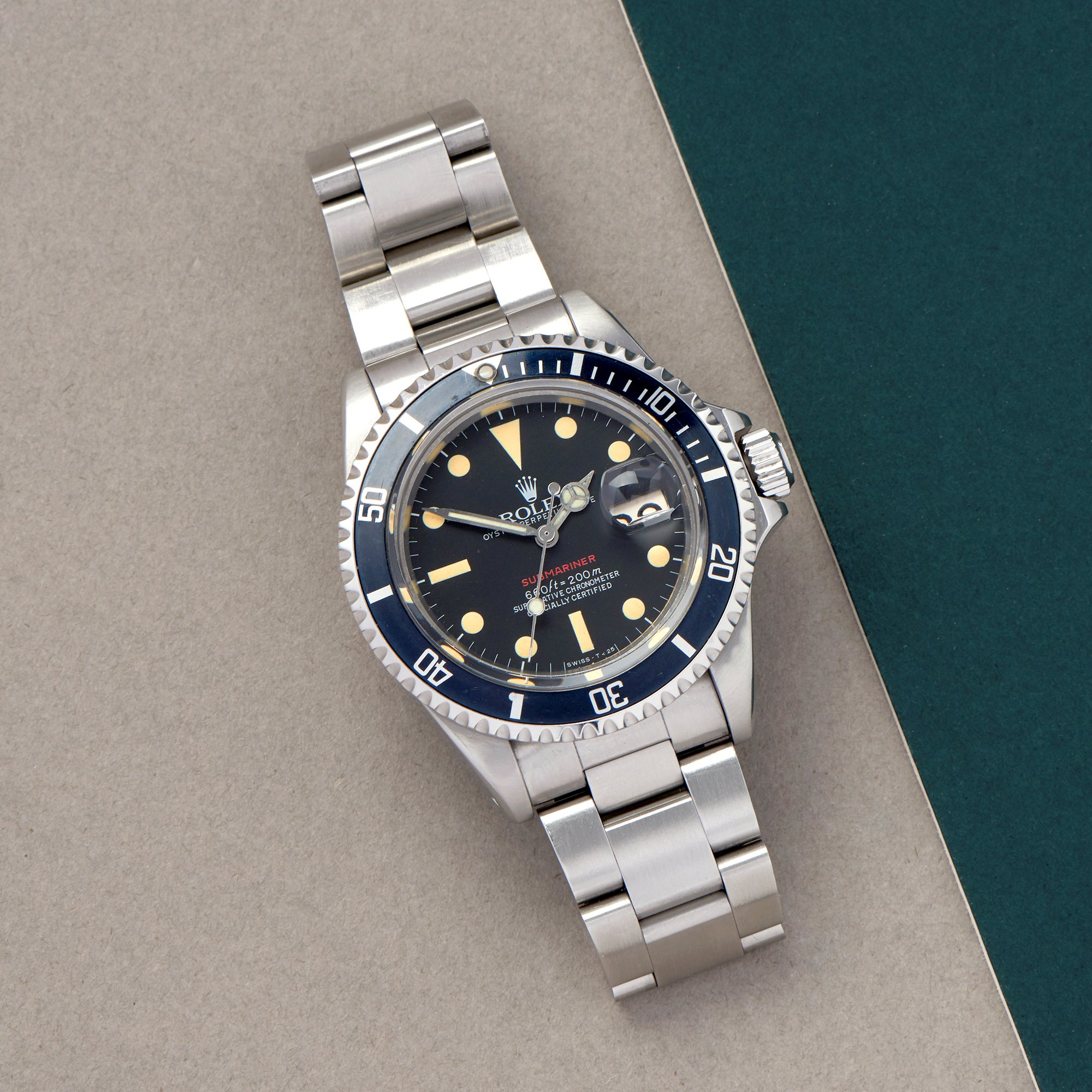 Rolex Submariner Date Single Red Stainless Steel 1680