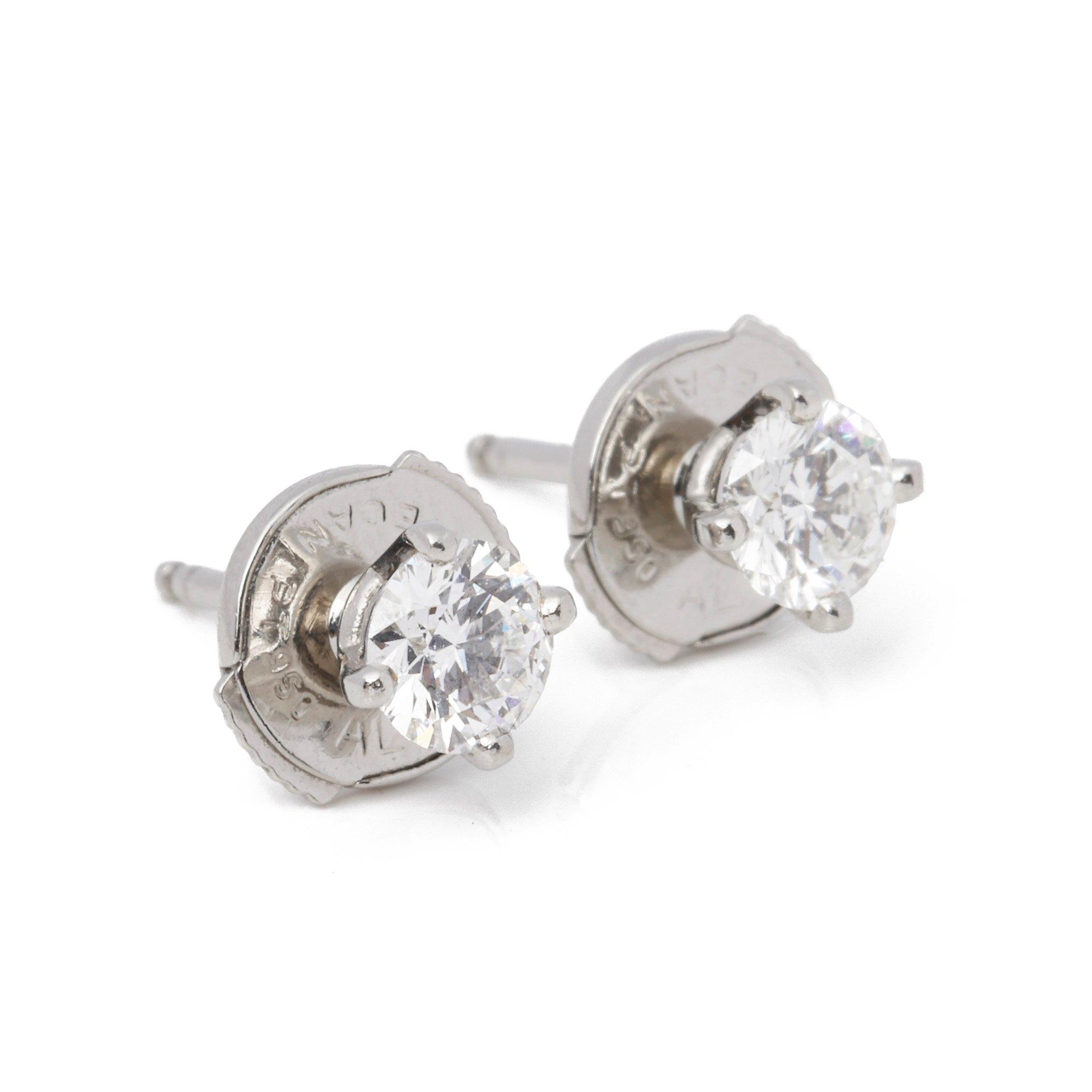 De Beers 0.40ct Diamond Stud Earrings