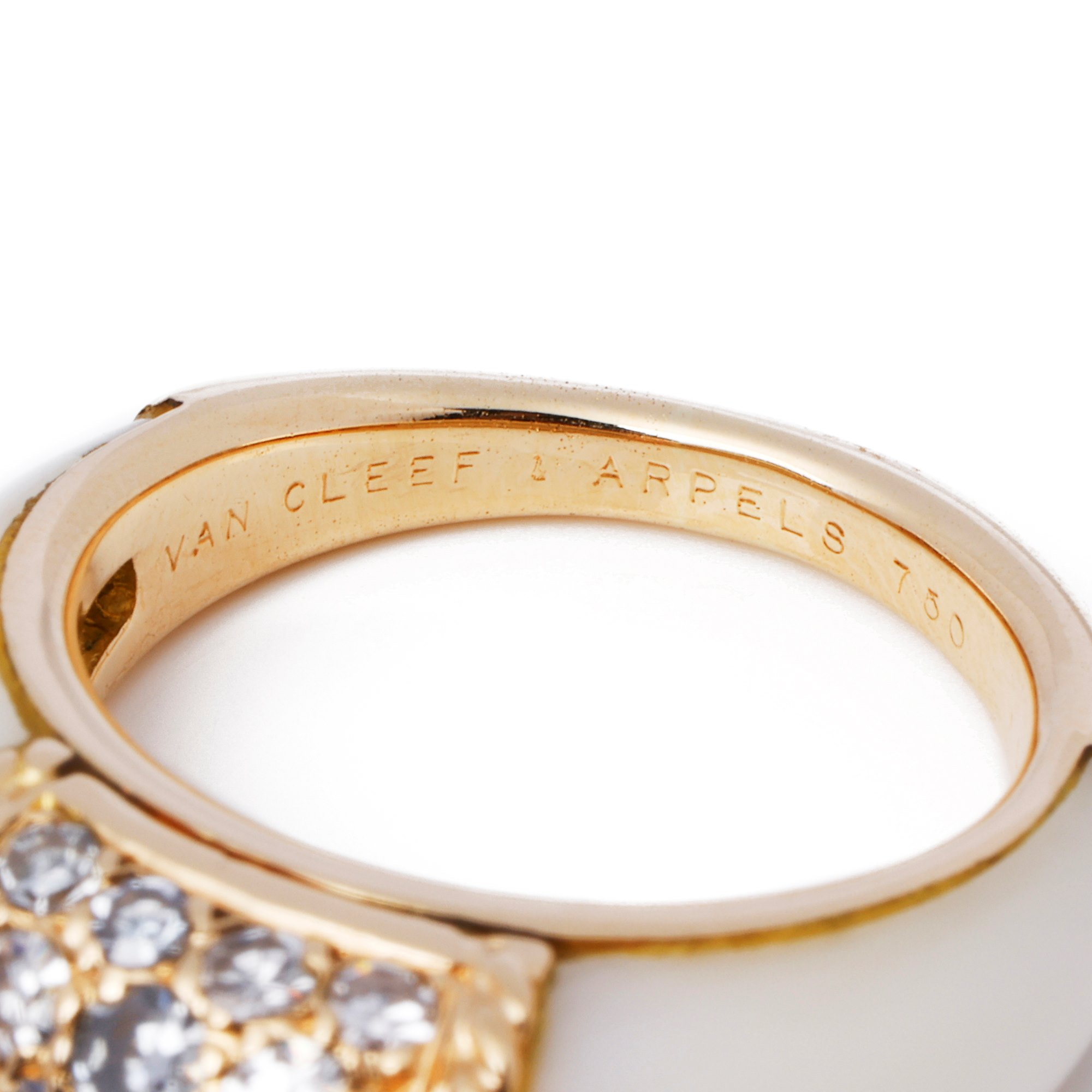 Van Cleef & Arpels 18ct Gold White Coral and Diamond Phillipine Ring