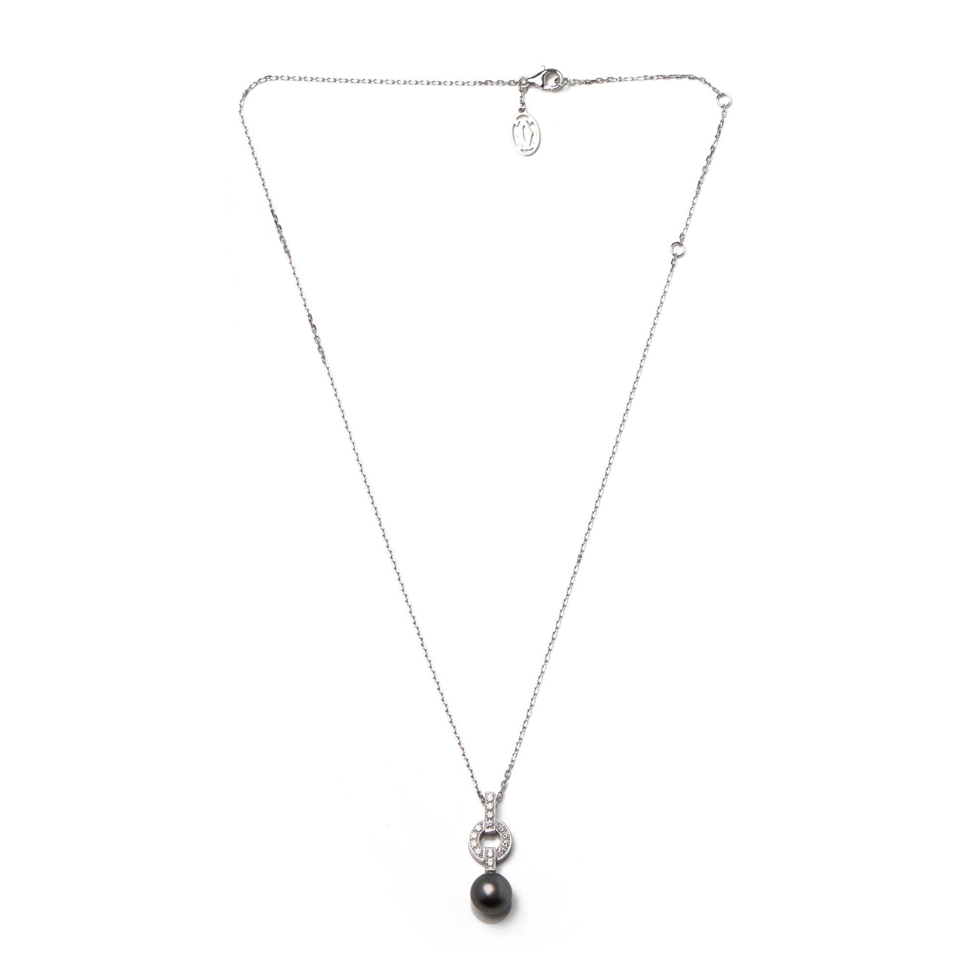 Cartier Himalia Diamond and Pearl Pendant