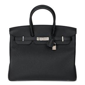 Hermès Black & Blue Agate Togo Leather Verso Birkin 35cm