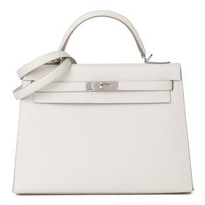 Hermès Craie Epsom Leather Kelly 32cm Sellier