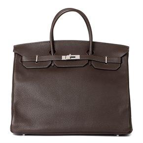 Hermès Chocolate Togo Leather Birkin 40cm Retourne