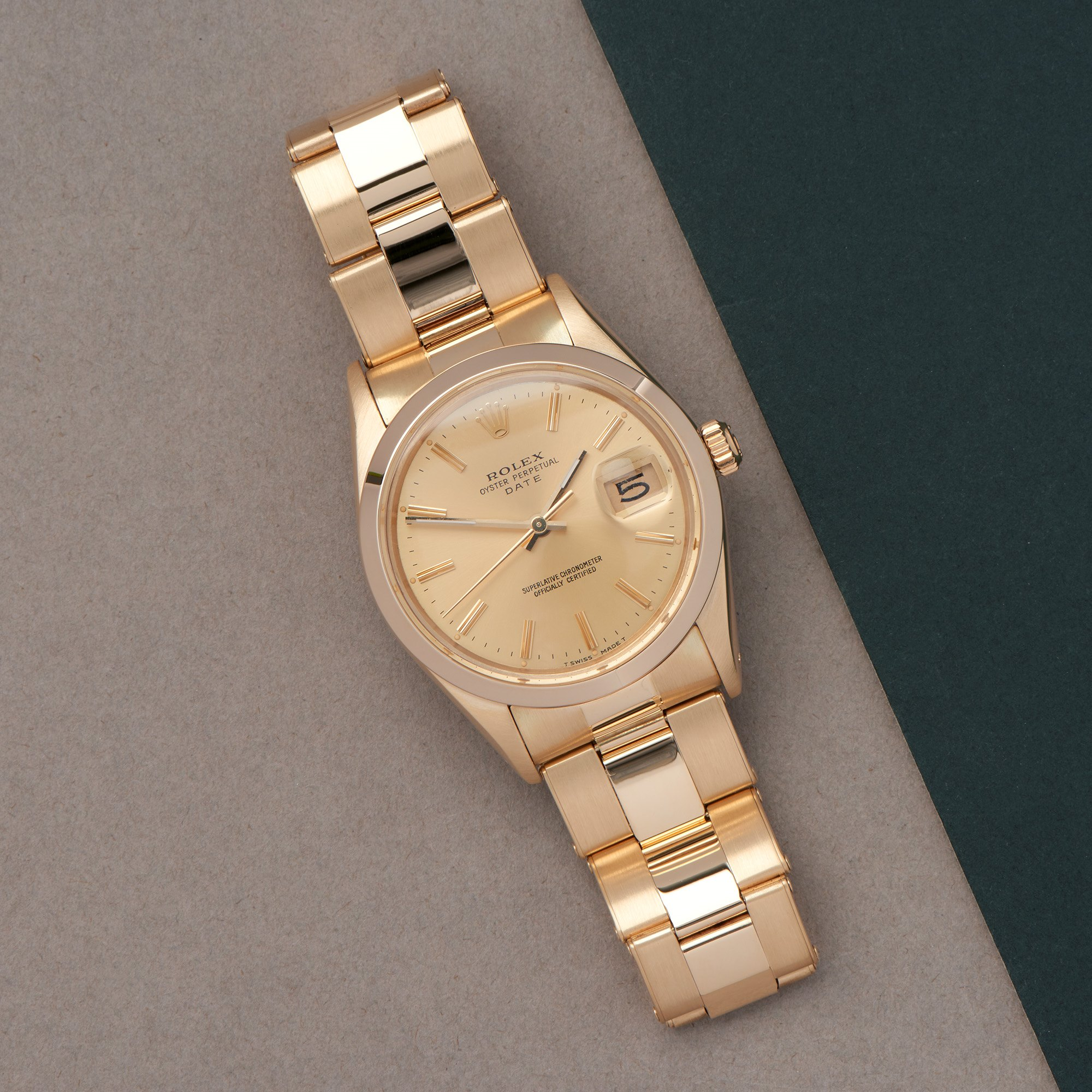 Rolex Oyster Perpetual 14K Yellow Gold 15007