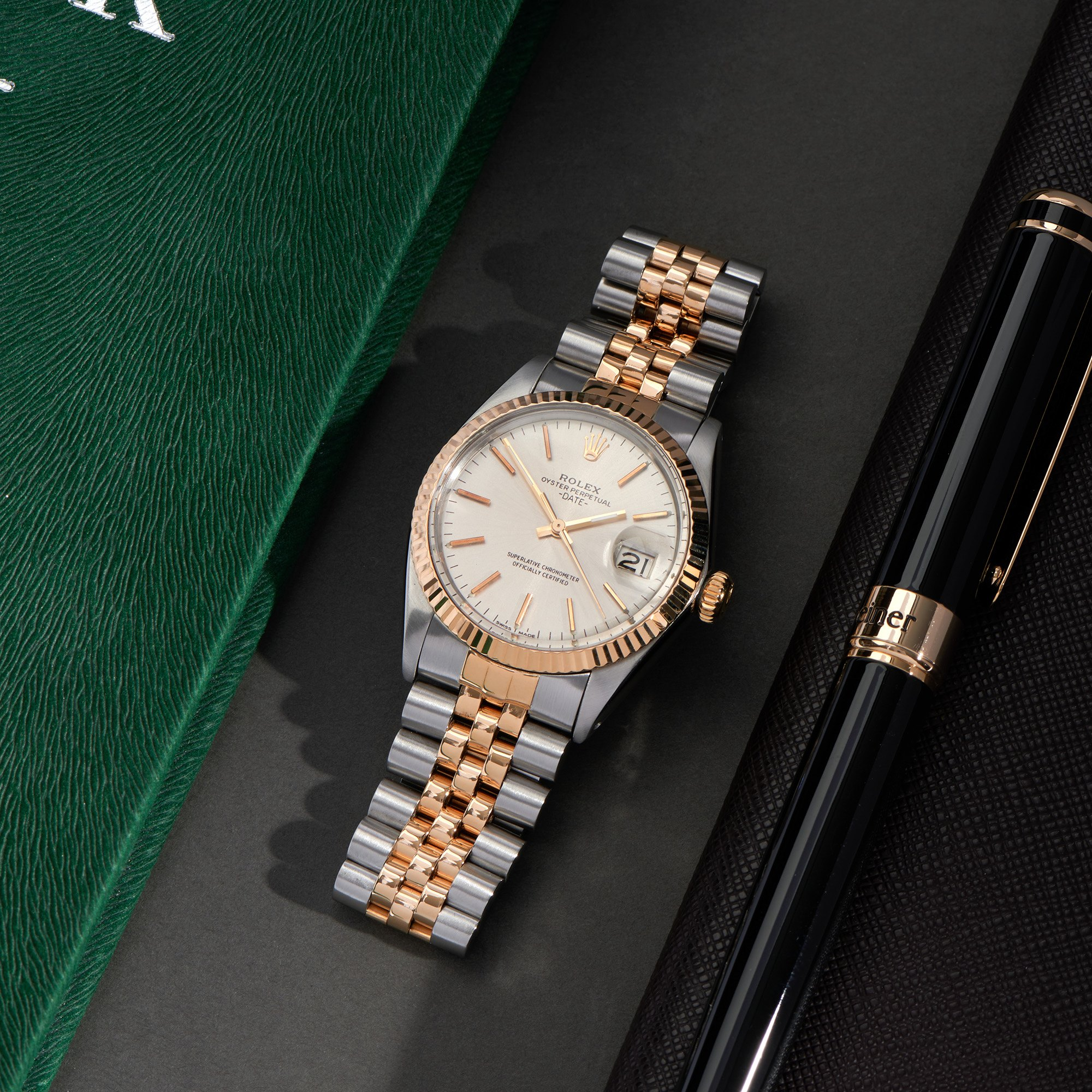 Rolex Oyster Perpetual 18K Yellow Gold & Stainless Steel 1505