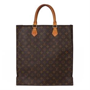 Louis Vuitton Brown Monogram Coated Canvas & Vachetta Leather Sac Plat