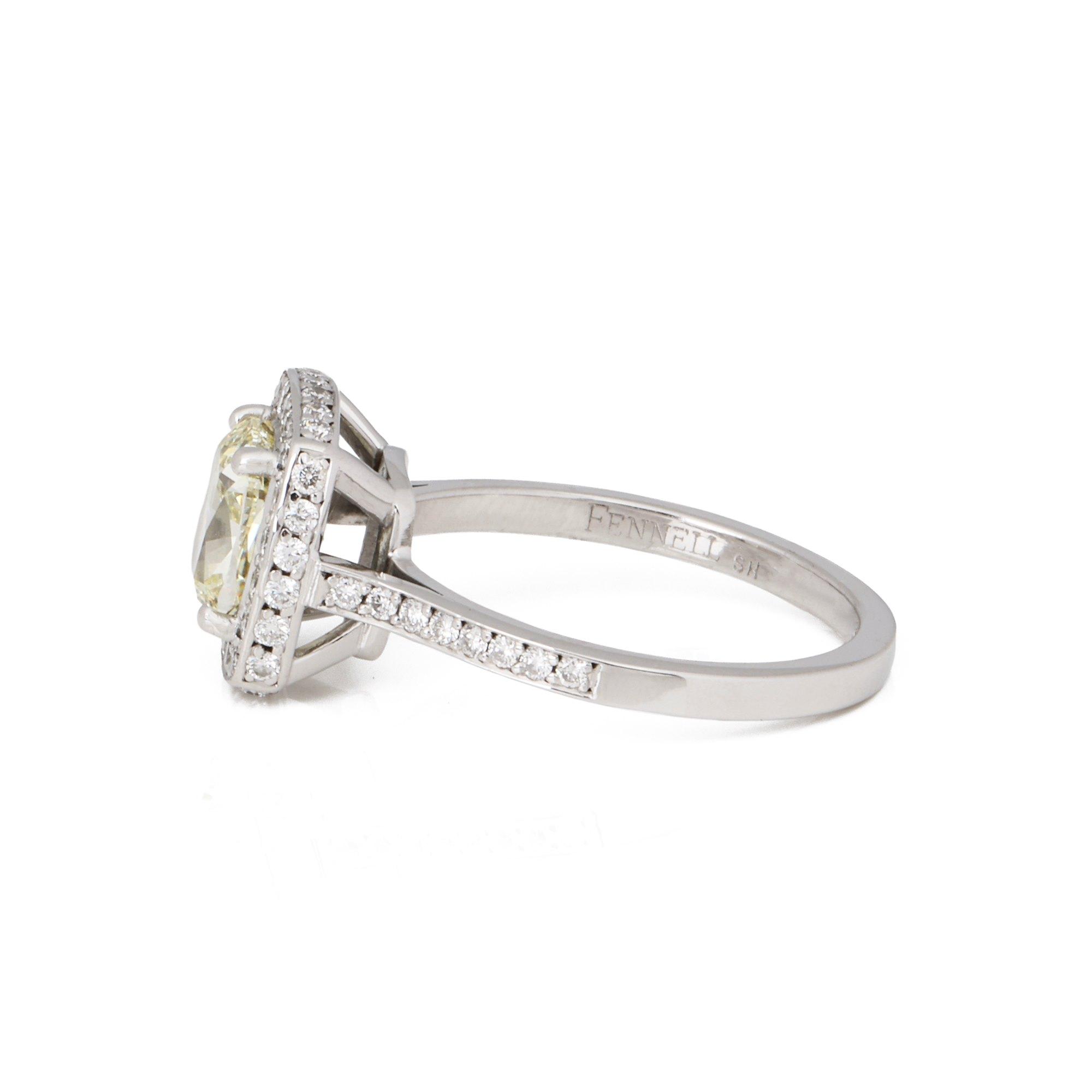 Theo Fennell Bespoke 1.57ct Yellow Diamond Cushion Cut Ring