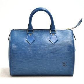 Louis Vuitton Blue Epi Leather Vintage Speedy 25cm