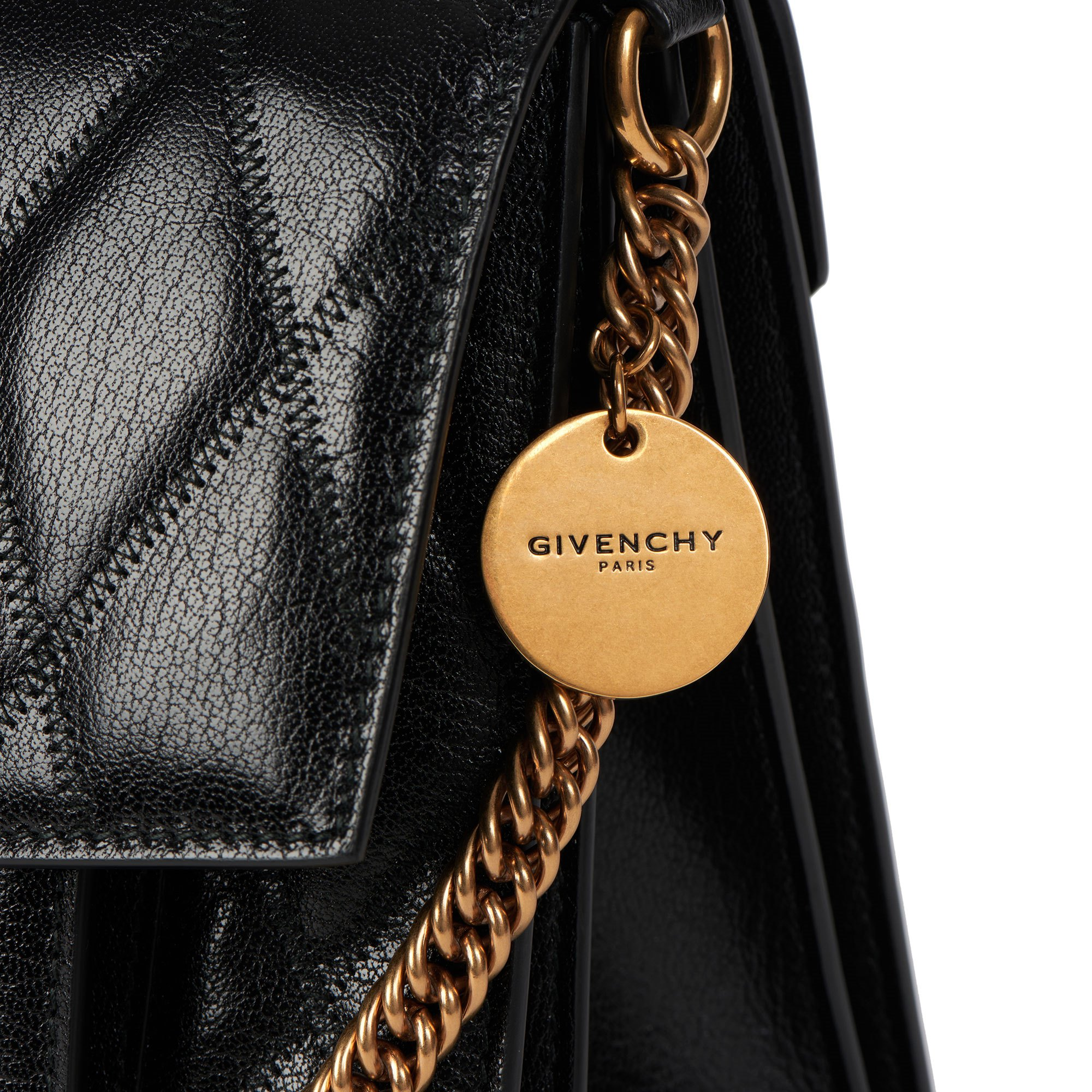 Givenchy Black Quilted Goatskin Leather Medium GV3