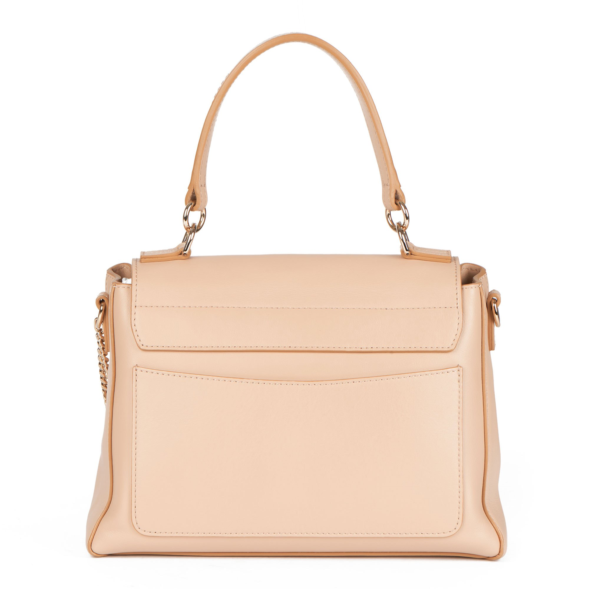 Chloé Beige Quilted Calfskin Leather & Suede Small Faye Day Bag