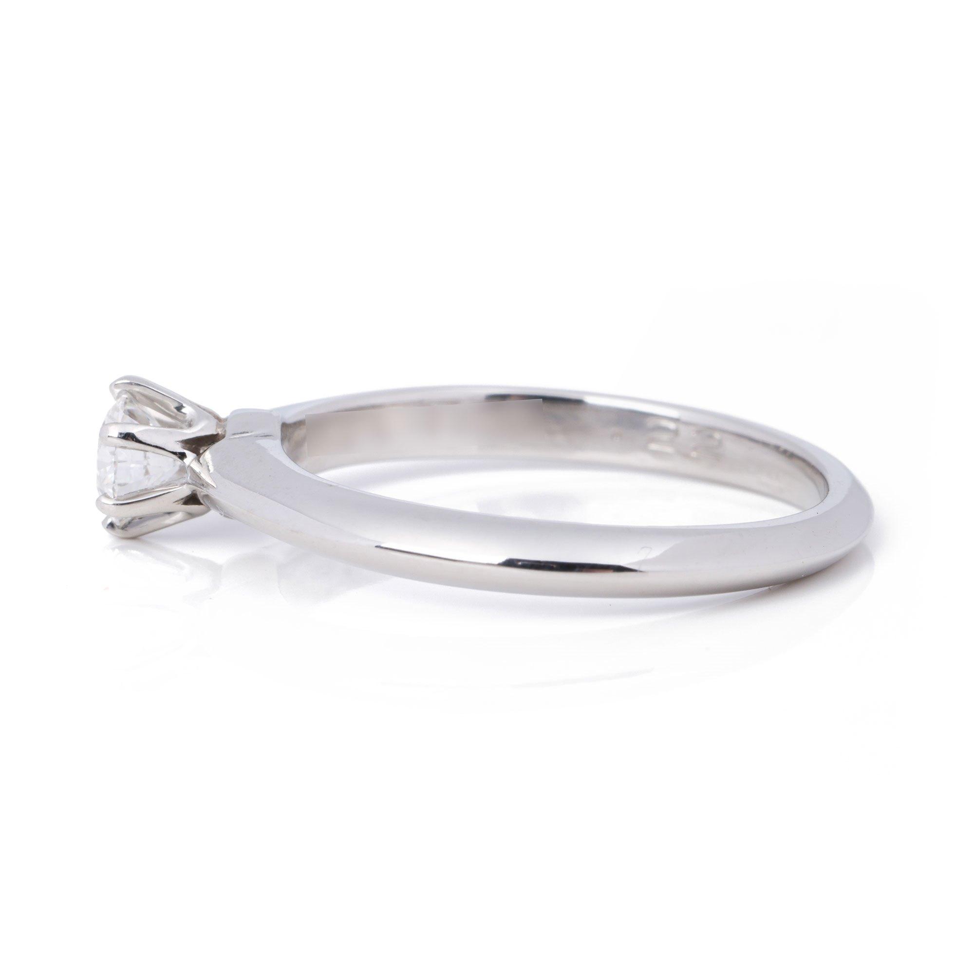 Tiffany & Co. Brilliant Cut 0.22ct Diamond Solitaire Ring