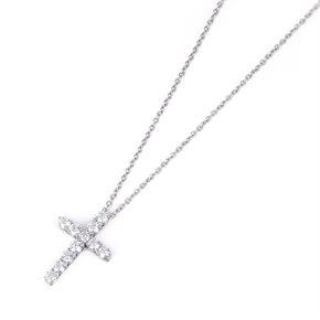 Tiffany & Co. Platinum Diamond Small Cross pendant