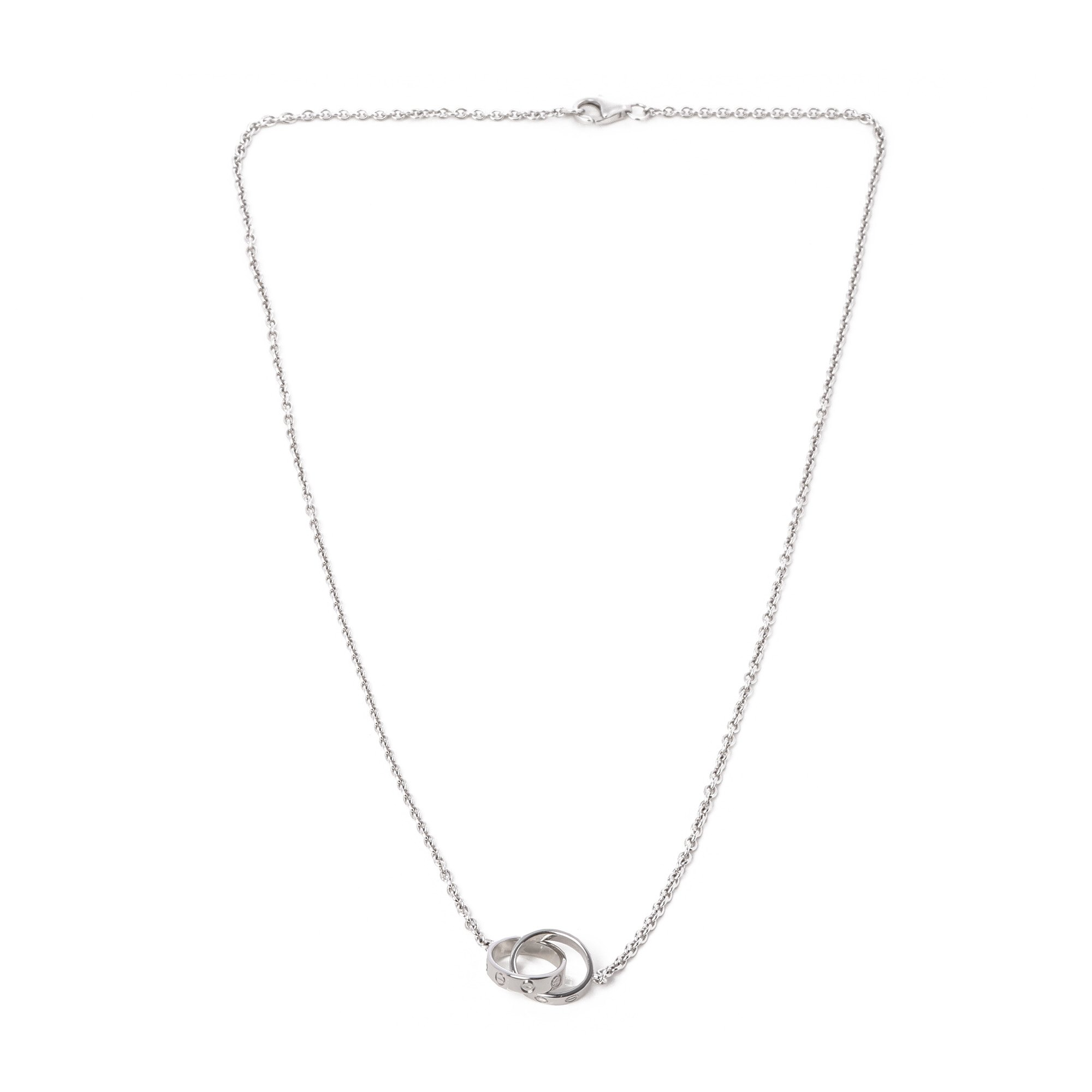 Cartier Love 18ct White Gold Necklace