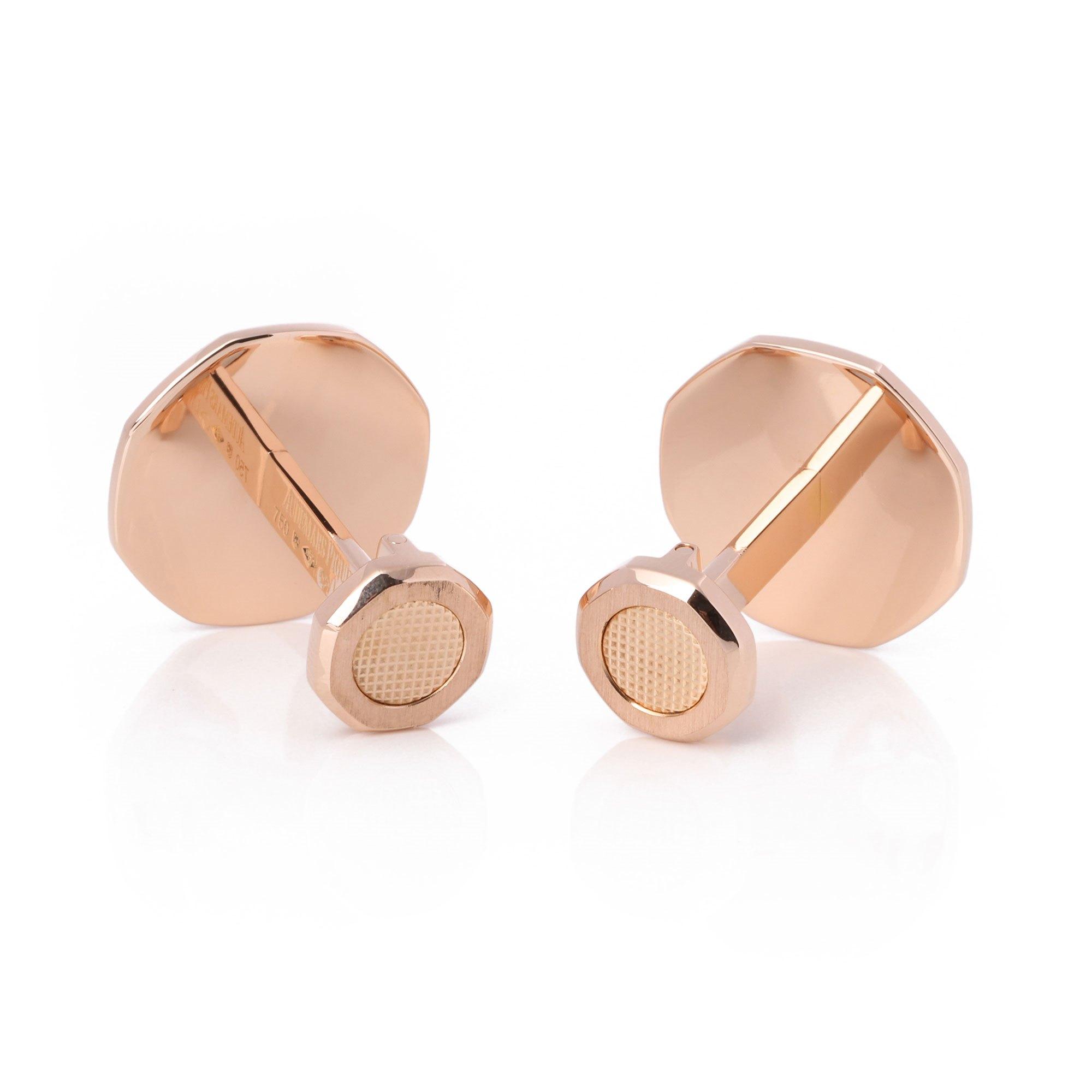 Audemar Piguet Royal Oak 18ct Pink Gold Cufflinks