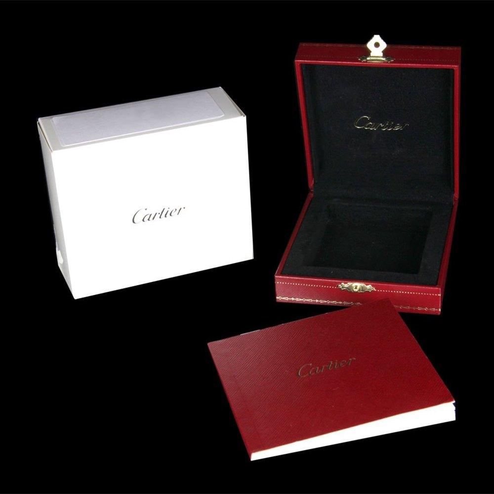 Cartier Travel Desk Clock Palladium/Black PVD Finish W0100058