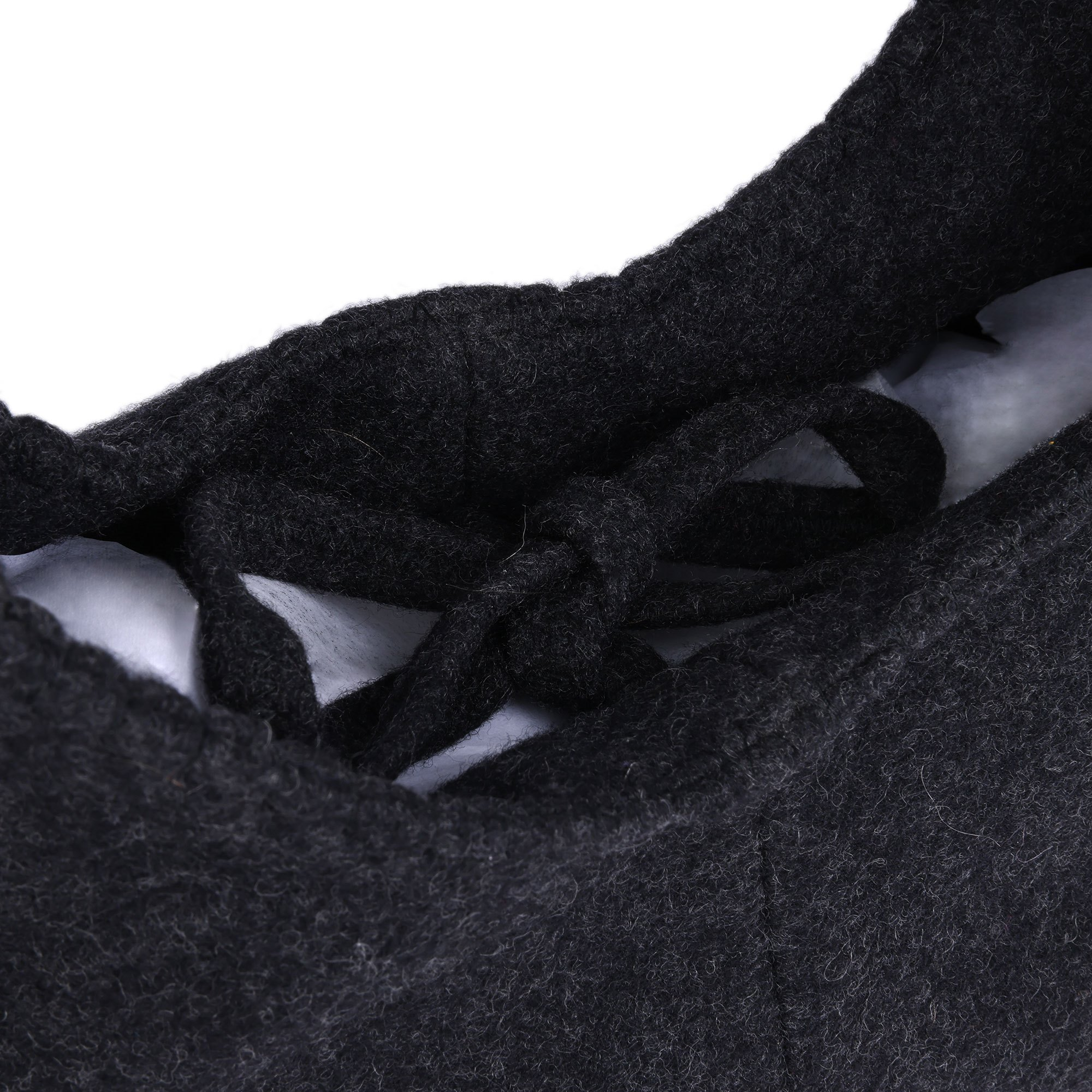 Miu Miu Grey Wool Vintage Mini Hobo Bag