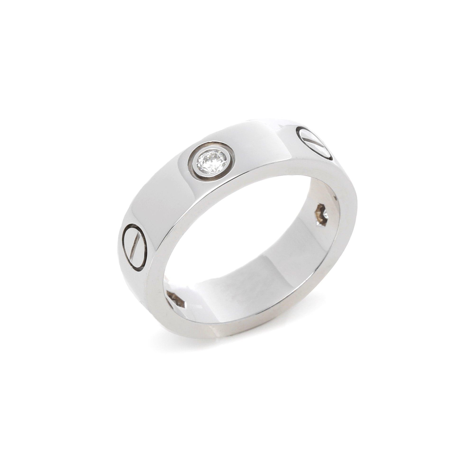 Cartier Love 18ct White Gold 3 Diamond Ring