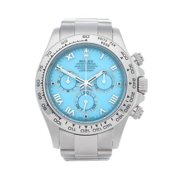 Rolex Daytona Beach Turquoise 18K White Gold - 116509