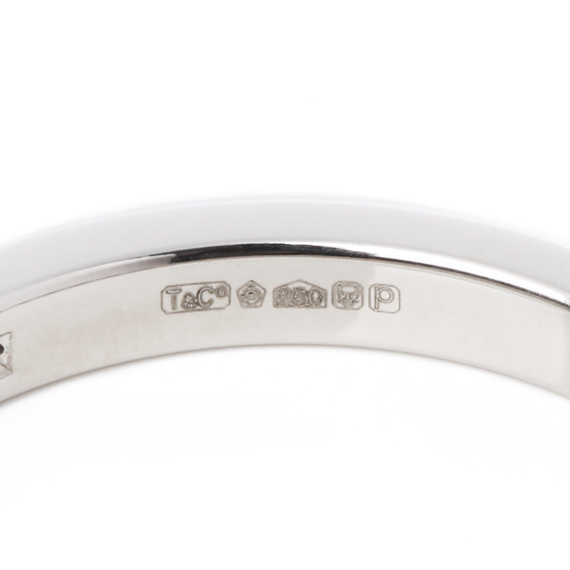 Tiffany & Co. Platinum brilliant cut diamond full eternity ring
