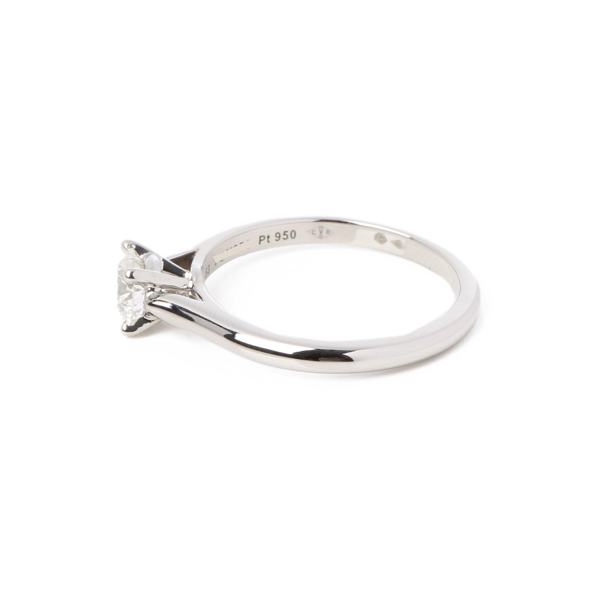 Cartier Platinum 0.57ct Solitaire 1895 ring