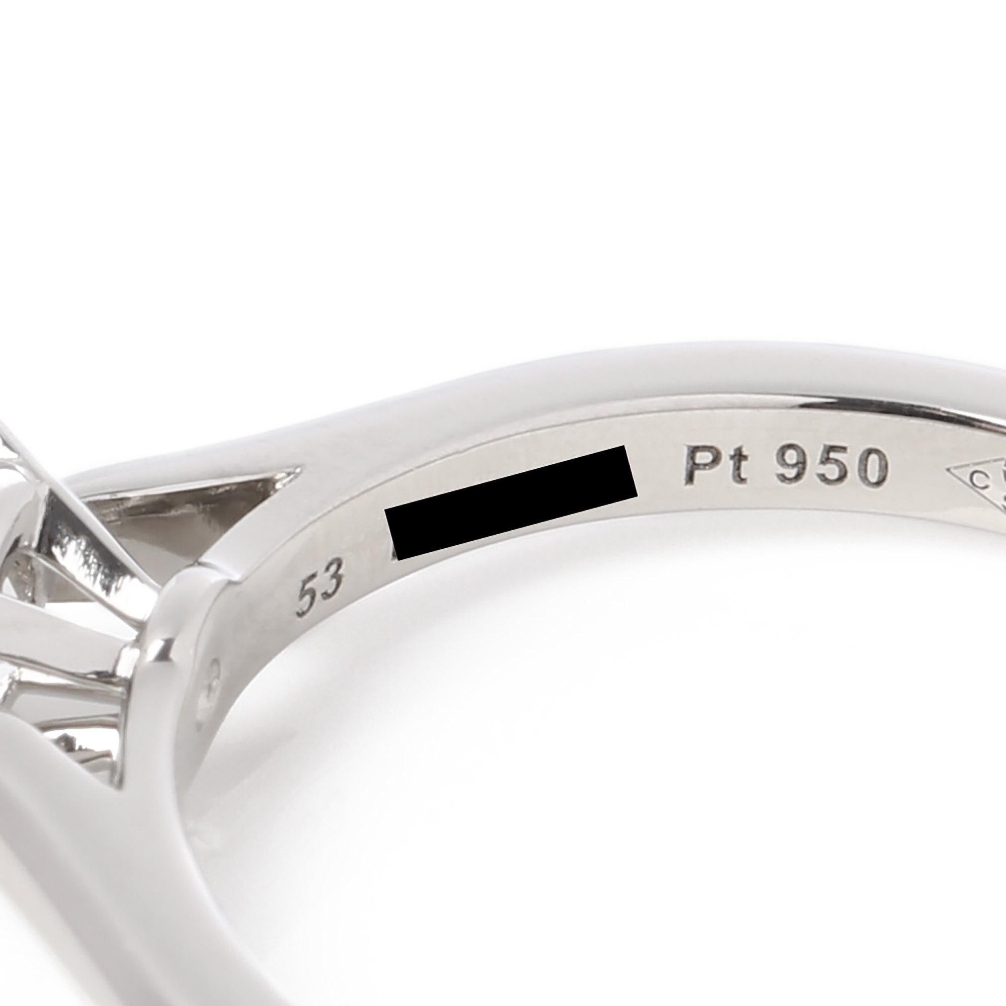 Cartier Platinum brilliant cut diamond single stone ring