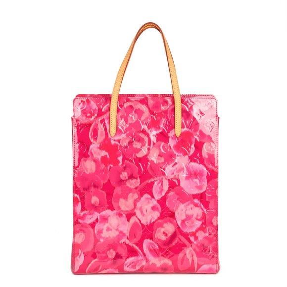 Louis Vuitton Pink Monogram Vernis Ikat & Vachetta Leather Catalina NS