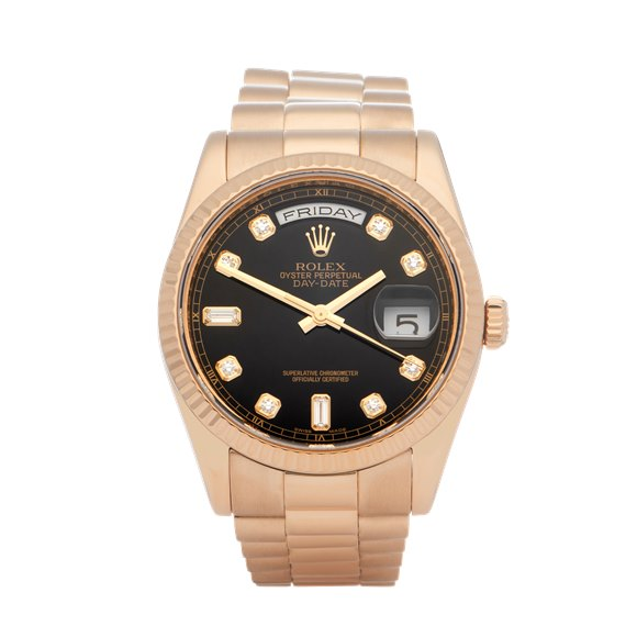 Rolex Day-Date 18K Yellow Gold - 118238