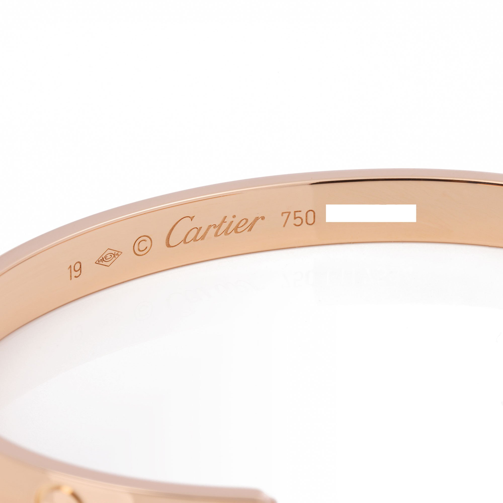 Cartier Rose Gold Love Cuff Bangle