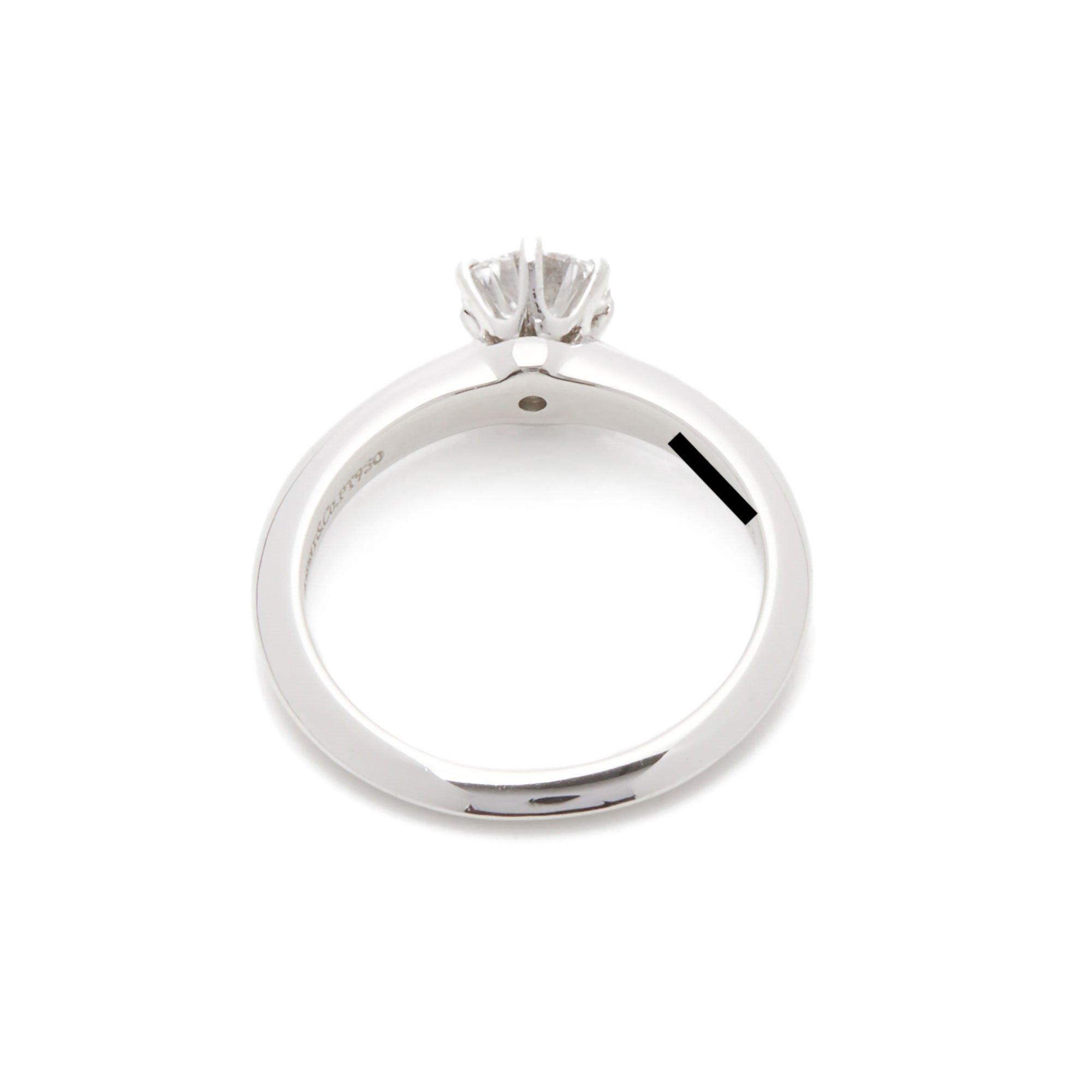Tiffany & Co. Platinum 0.57ct Diamond Solitaire Engagement Ring