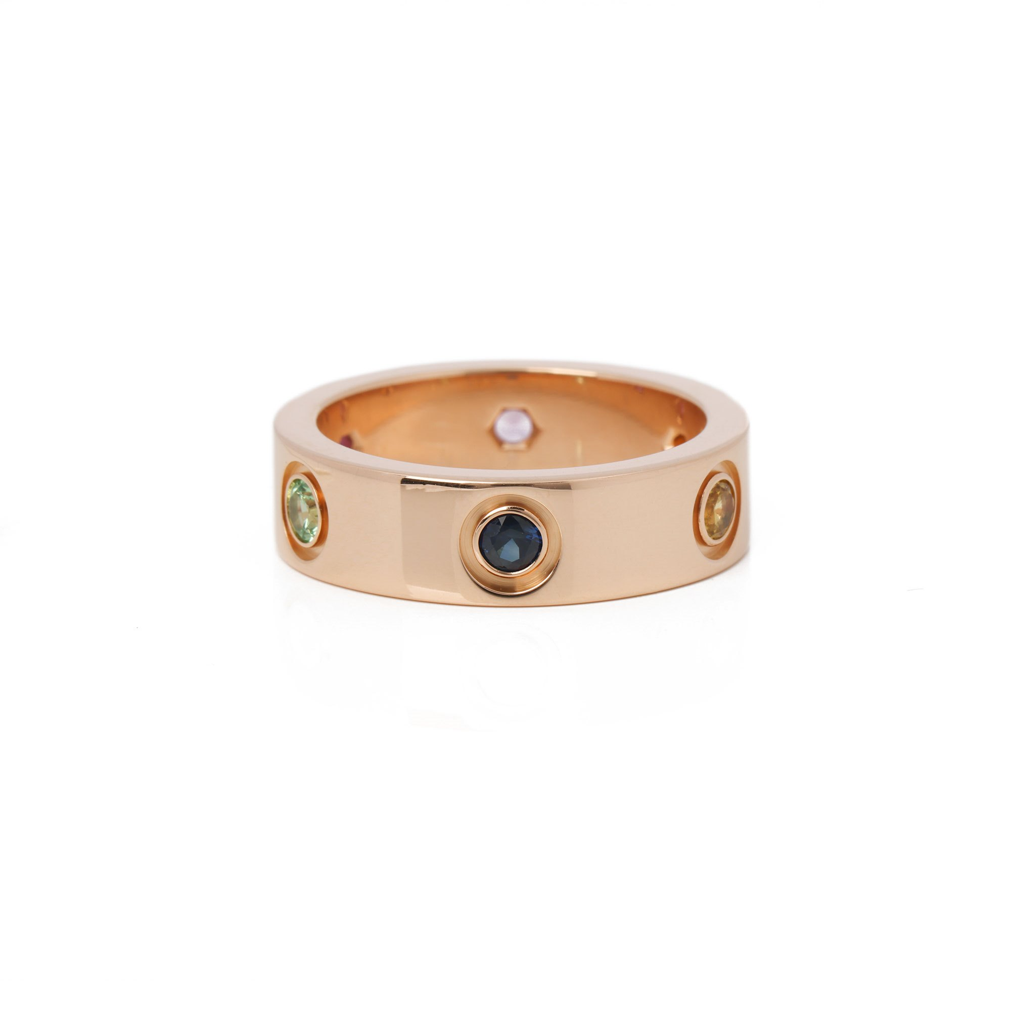 Cartier Love Ring, Sapphires, Garnets, Amethyst