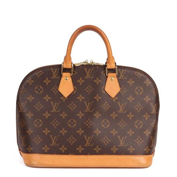 Louis Vuitton Brown Monogram Coated Canvas & Vachetta Leather Alma PM