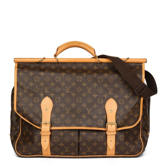 Louis Vuitton Brown Monogram Coated Canvas & Vachetta Leather Hunting