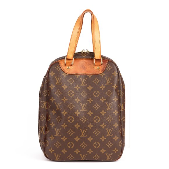 Louis Vuitton Brown Monogram Coated Canvas & Vachetta Leather Vintage Excursion