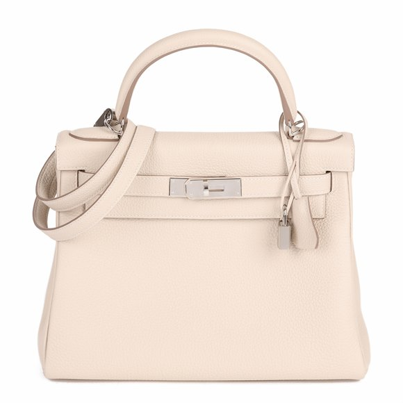 Hermès Craie Togo Leather Kelly 28cm Retourne