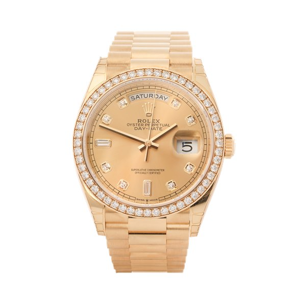 Rolex Day-Date 18K Yellow Gold - 128348RBR