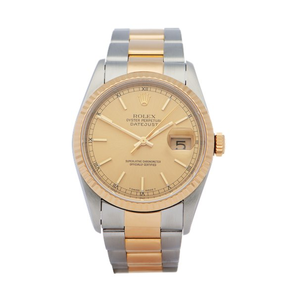 Rolex Datejust 18K Yellow Gold & Stainless Steel - 16233