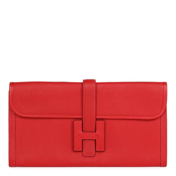 Hermès Rouge Garance Epsom Leather Jige Elan 29