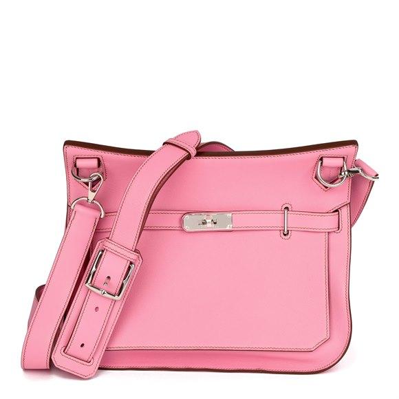Hermès Bubblegum 5P Pink Swift Leather Jypsiere 28