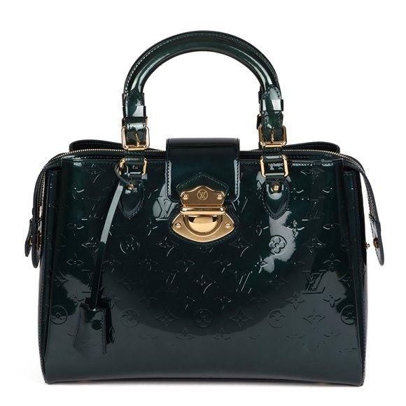 Louis Vuitton Blue Nuit Monogram Vernis Leather Melrose Avenue