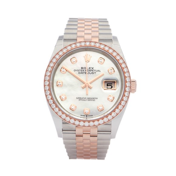 Rolex Datejust 18K Rose Gold & Stainless Steel - 126281RBR